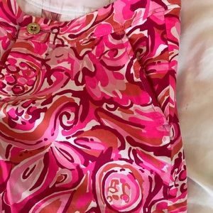 Lilly Pulitzer Shorts - Lilly Pulitzer Buttercup Scalloped Shorts 0